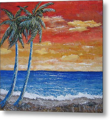Metal Print featuring the painting Simple Pleasure by Suzanne Theis