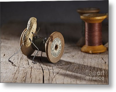 Simple Things - Rolling The Thread Metal Print by Nailia Schwarz