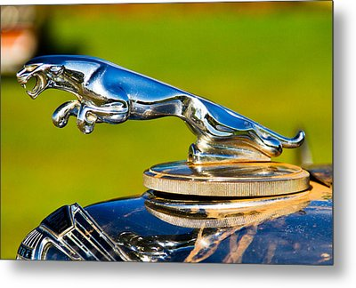 Simply Jaguar-front Emblem Metal Print