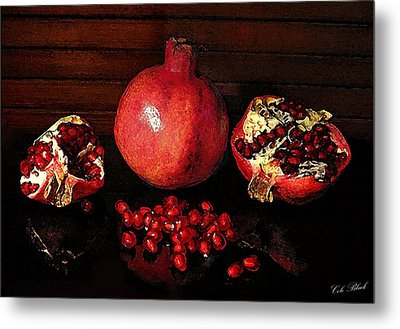 Simply Red Metal Print by Cole Black