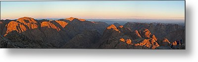 Metal Print featuring the pyrography Sinai View From St. Catherine Montain On Sunrise by Julis Simo