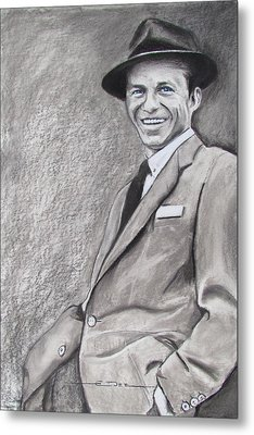 Sinatra - The Voice Metal Print by Eric Dee