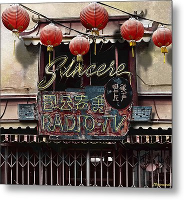 Sincere Radio Tv Metal Print by Larry Butterworth
