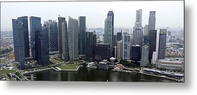 Metal Print featuring the photograph Singapore Skyline by Shoal Hollingsworth