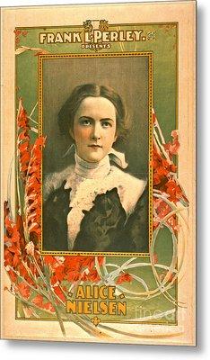 Singer Alice Nielsen 1899 Metal Print by Padre Art