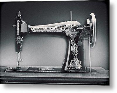 Singer Machine Metal Print by Kelley King