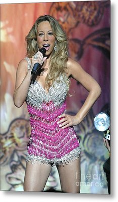 Singer Mariah Carey Metal Print by Concert Photos