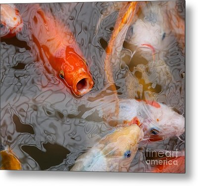 Singing Carp Metal Print by Theresa Willingham