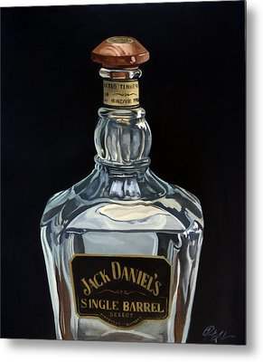 Single Barrel Jack Daniel's Metal Print