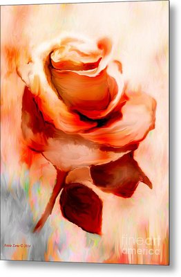 Single Rose Painting Metal Print