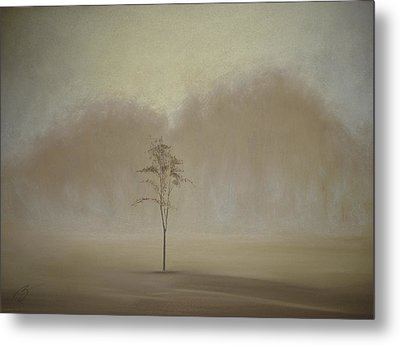 Metal Print featuring the pastel Single Tree - Pastel by Ben Kotyuk