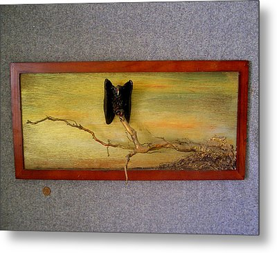 Single Vulture At Dusk Metal Print