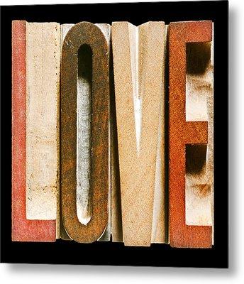 Single Word Love Metal Print