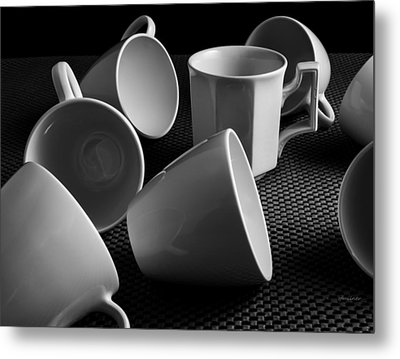 Metal Print featuring the photograph Singled Out - Coffee Cups by Steven Milner