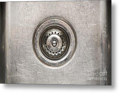 Sink Plug Metal Print by Tim Hester