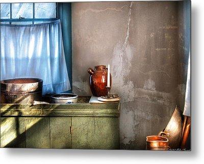 Sink - The Jug And The Window Metal Print by Mike Savad