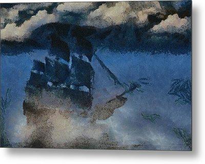Sinking Sailer Metal Print by Ayse and Deniz