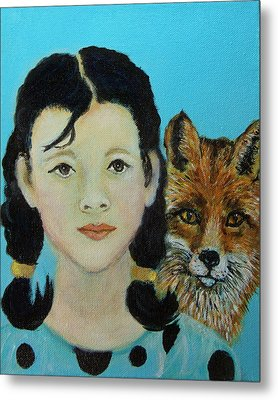 Sinopa Little Fox Metal Print by The Art With A Heart By Charlotte Phillips