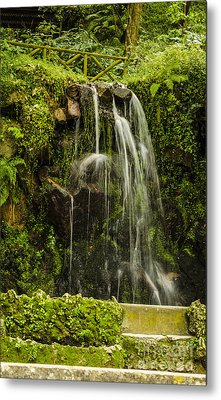 Sintra Waterfall Metal Print by Deborah Smolinske