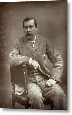 Sir Arthur Conan Doyle Metal Print by British Library