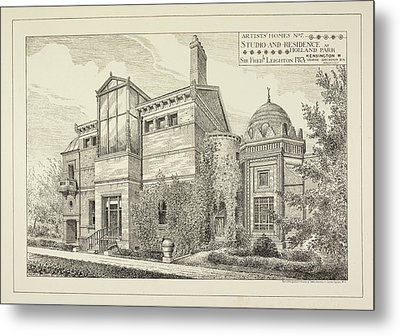 Sir Frederick Leighton's Home In London Metal Print by British Library
