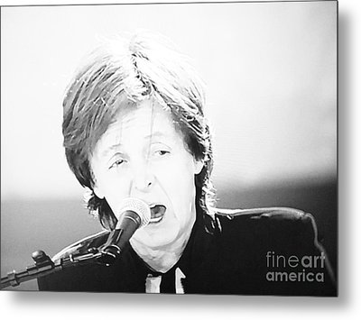 Sir Paul In Monochrome Metal Print by Tina M Wenger