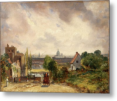 Sir Richard Steeles Cottage, Hampstead A View Of London Metal Print by Litz Collection
