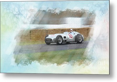 Sir Stirling Moss Metal Print