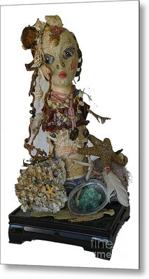 Metal Print featuring the sculpture Siren by Avonelle Kelsey