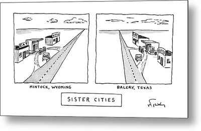 Sister Cities Metal Print by Mike Twohy