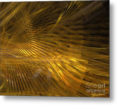 Golden Hair Metal Print