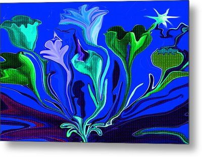 Sister Of The Red Dream I Must Be In A Dream The Flowers Are Dancing Metal Print by Sherri's Of Palm Springs