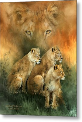 Sisterhood Of The Lions Metal Print by Carol Cavalaris