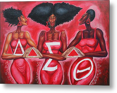 Sisterly Love Delta Sigma Theta Metal Print by The Art of DionJa'Y