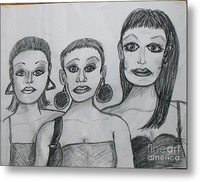 Sisters And Brother Metal Print by Catherine Ratliff