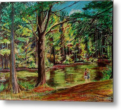 Sisters At Wason Pond Metal Print by Sean Connolly