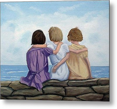 Metal Print featuring the painting Sisters by Fran Brooks