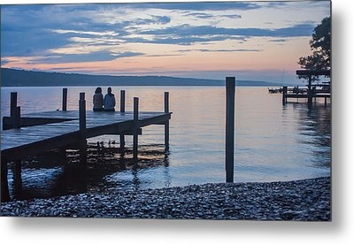 Sisters - Lakeside Living At Sunset Metal Print