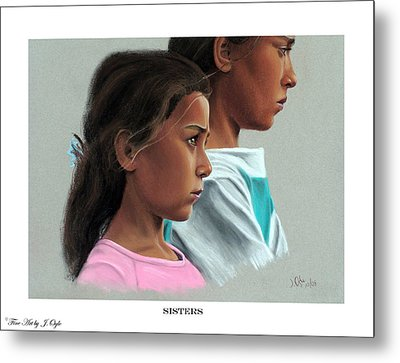 Metal Print featuring the painting Sisters Print Version by Joseph Ogle