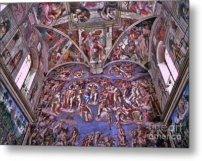 Metal Print featuring the photograph Sistine Chapel by Allen Beatty