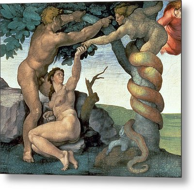 Sistine Chapel Ceiling Metal Print by Michelangelo