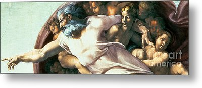 Sistine Chapel Ceiling Creation Of Adam Metal Print by Michelangelo Buonarroti