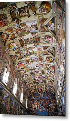 Sistine Chapel Ceiling. Metal Print by Mark Williamson