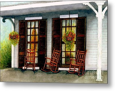 Sit A Spell  Metal Print by Janine Riley
