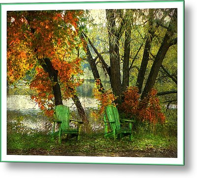 Sit A While Metal Print by Dianne  Lacourciere