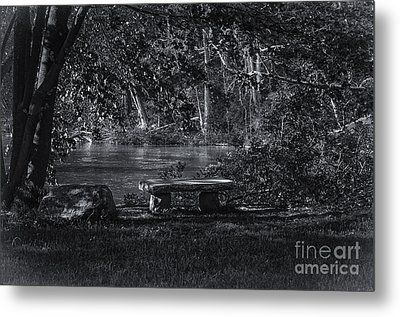 Metal Print featuring the photograph Sit And Ponder by Mark Myhaver