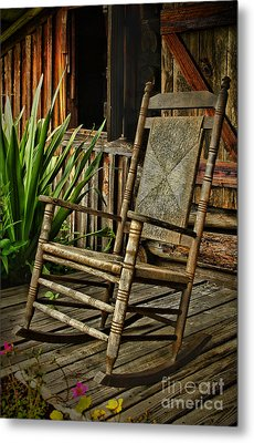 Sit Down And Stay A Spell Metal Print