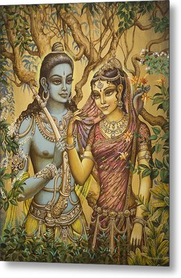 Sita And Ram Metal Print by Vrindavan Das