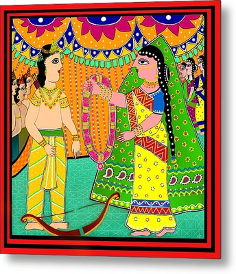 Sita's Wedding Metal Print