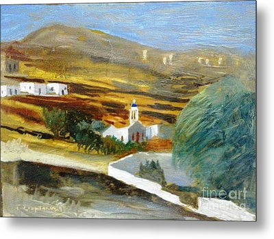 Site From Tinos Island Metal Print